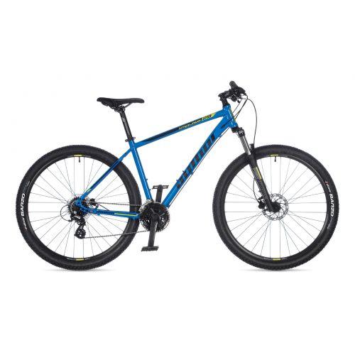 """Велосипед AUTHOR (2021) Impulse 29"""", рама 17"""", цвет-синий (салатовый) // чёрный"""