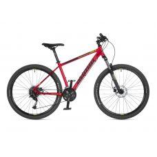 """Велосипед AUTHOR (2021) Solution 27.5"""", рама 19"""", цвет-красный (лимонный) // черный"""