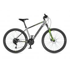 """Велосипед AUTHOR (2021) Solution 27.5"""", рама 19"""", цвет-серебристый (салатовый) // салатовый"""