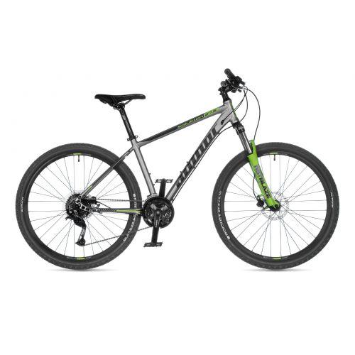 """Велосипед AUTHOR (2021) Solution 27.5"""", рама 17"""", цвет-серебристый (салатовый) // салатовый"""