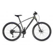 """Велосипед AUTHOR (2021) Pegas 27.5"""", рама 15"""", цвет-серебристый (неоново желтый) // серебристый"""