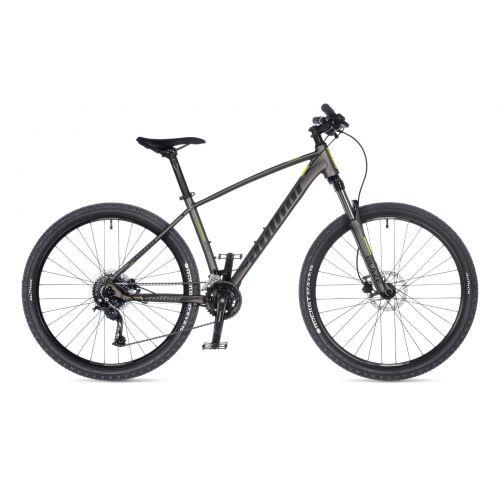 """Велосипед AUTHOR (2021) Pegas 27.5"""", рама 17"""", цвет-серебристый (неоново желтый) // серебристый"""