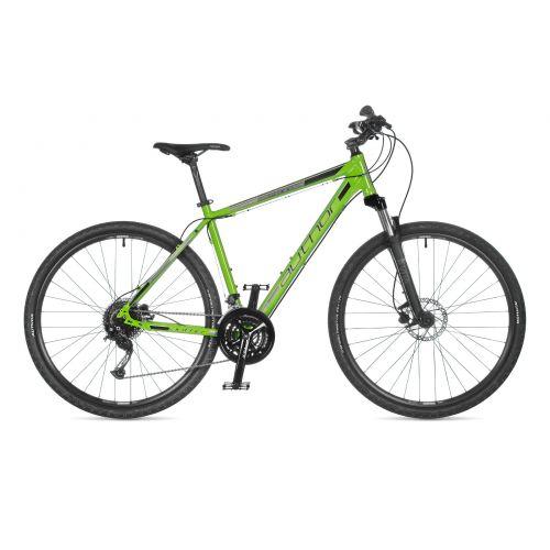 """Велосипед AUTHOR (2021) Grand 29"""", рама 22"""", цвет-зелёный (чёрно/серебристый) // чёрный"""