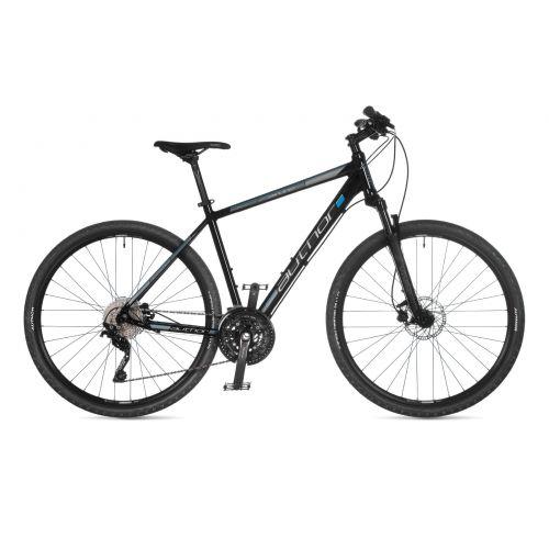 """Велосипед AUTHOR (2021) Airline 29"""", рама 22"""", цвет-чёрный (серебристо/голубой) // чёрный"""