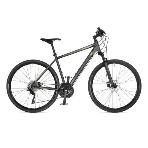 """Велосипед AUTHOR (2021) Codex 29"""", рама 22"""", цвет-тёмно серый (серебристо/лимонный) // тёмно серый"""