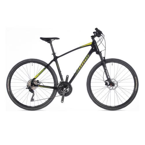 "Велосипед AUTHOR (2021) Synergy 22"", рама 20"", цвет-чёрный (зелёный) // чёрный"