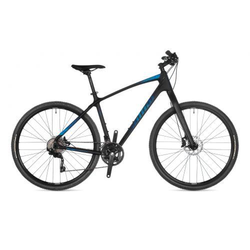 """Велосипед AUTHOR (2021) Avion 29"""", рама 16"""", цвет-чёрный (синий) // чёрный"""