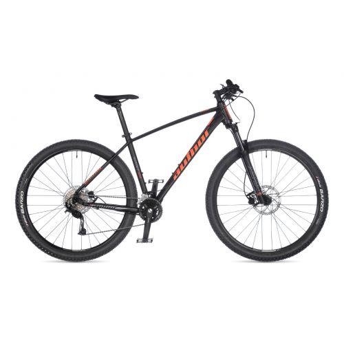 """Велосипед AUTHOR (2021) Spirit 29"""", рама 17"""", цвет-чёрный (оранжевый) // черный"""