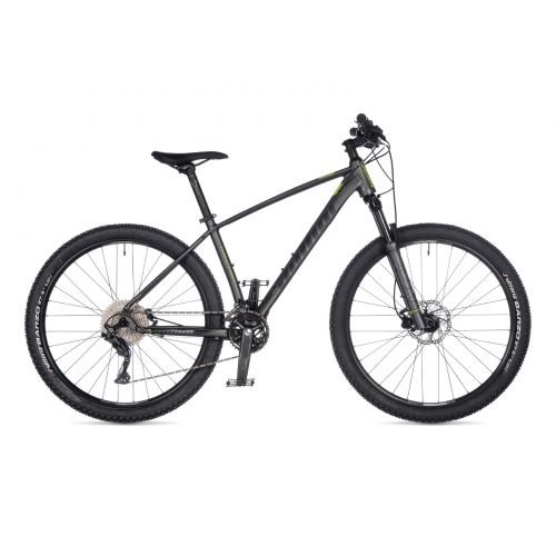 "Велосипед AUTHOR (2021) Traction 27.5"", рама 15"", цвет-тёмно серый (лимонній) // серый"