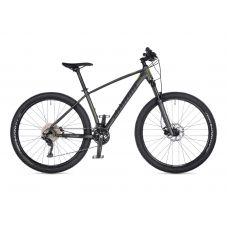 "Велосипед AUTHOR (2021) Traction 27.5"", рама 17"", цвет-тёмно серый (лимонній) // серый"
