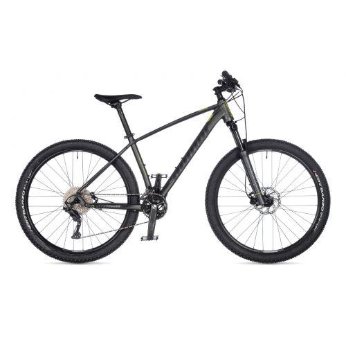 "Велосипед AUTHOR (2021) Traction 27.5"", рама 19"", цвет-тёмно серый (лимонній) // серый"