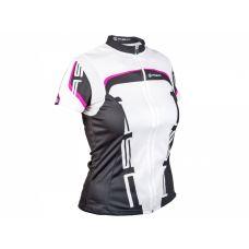 Футболка Author женская Lady Sport 15A, размер M, бело/ розово черная