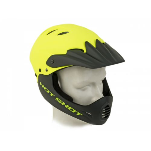 Шлем Author Hot Shot HST X9, размер 56-58 см, цвет:неоново жёлтый/чёрный