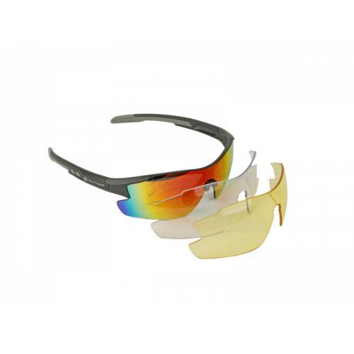 Очки солнцезащитные Author Vision LX, матово серая оправа, 3 сменных пары линз