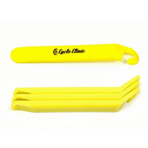 Бортировочные лопатки Cycle Clinic TL4 желтые, пластик, 3 шт.в компл., вес 40 гр.