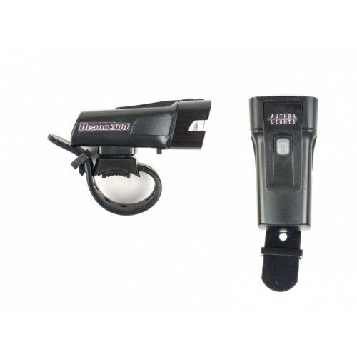 Фонарь передний A-Vision 300 lm USB, черная