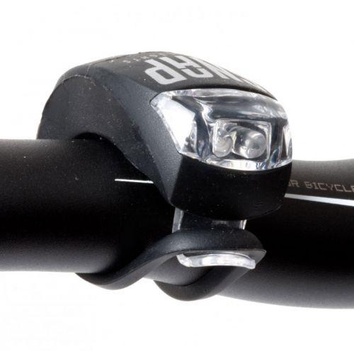 Фонарь мигалка передний A-Snap W, черный, 60 гр.