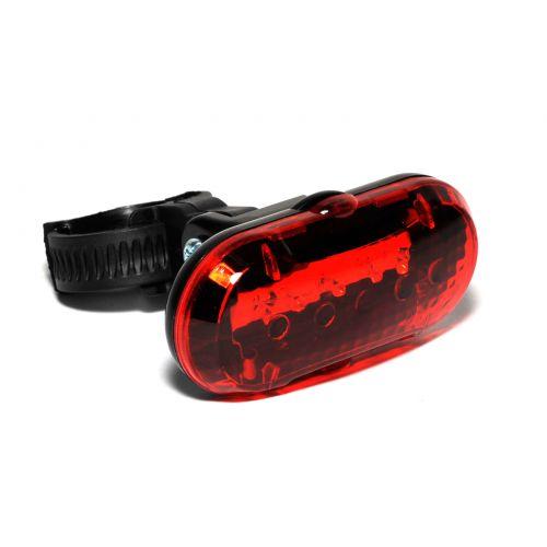 Фонарь мигалка задний TL-20 R 5 LED, черный с красными лизами