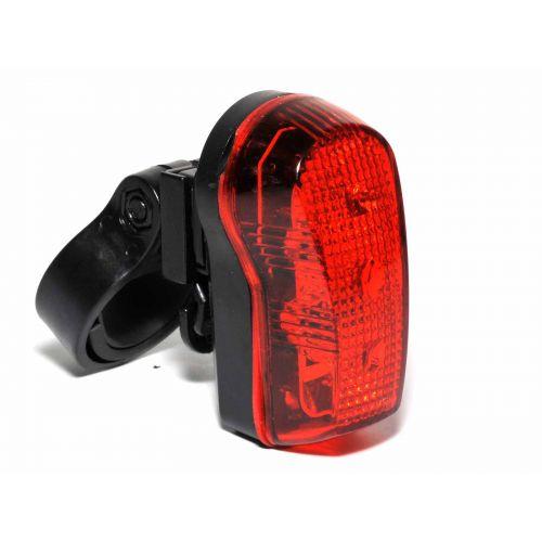 Фонарь мигалка задний Author TL-30 R 3 LED, черный с красными лизами