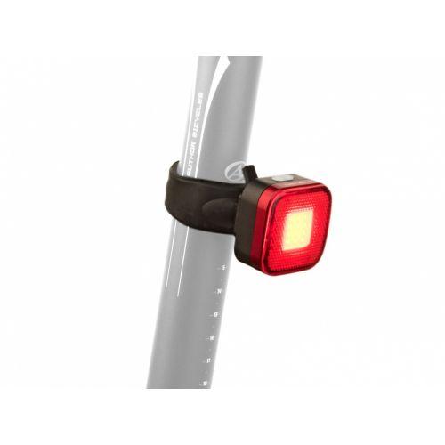 Фонарь мигалка задний Author A-Square USB 40 lm, черный с красными лизами