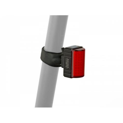 Фонарь мигалка задний Author A-Square USB CobLed 100 lm, черный с красным рефлектором