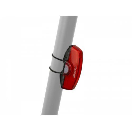 Фонарь мигалка задний Author A-Orbit USB COBLed 50 lm, черный с красным рефлектором