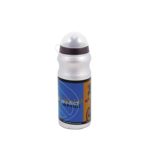 Фляга AB-Pst-0,7l  серебристая с пыле защитной крышкой, вес 75 гр