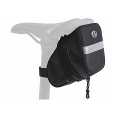 Сумка под седло Author A-S305, черная, обьем 0,75 л.+ 0,95 л., вес 160 гр.