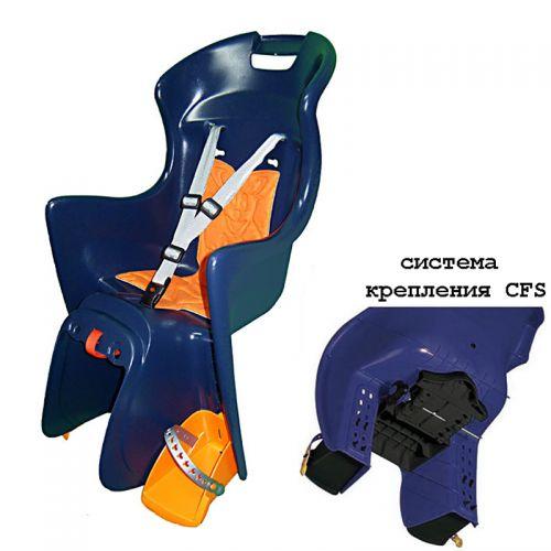 Кресло детское ABS-Boodie,CFS, сине оранжевое, для установки на багажник