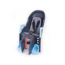 Кресло детское ABS - Guppy, на подседельную трубу рамы, серо синее
