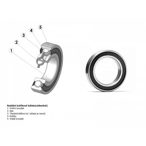 Подшипник 6000 2RS/RS/RU для втулки Xenon Disc R / ACO-H04D R/ ACO-H99 R под ось 10 мм