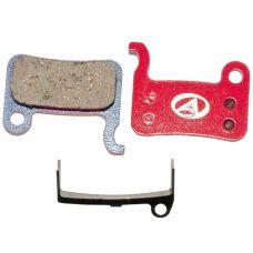 Гальмівні дискові колодки ABS-24 Shi M07, полімер, червоні