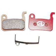 Тормозные дисковые колодки ABS-24S Shi M07, металл, красные