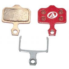 Тормозные дисковые колодки Author ABS-65S Avid Elixir, металл, красные