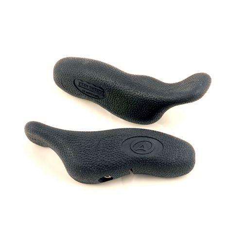 Роги  ABE-402, с мягкой резиновой поверхностью, черные, вес 141 гр, матер.: алюминий 6061