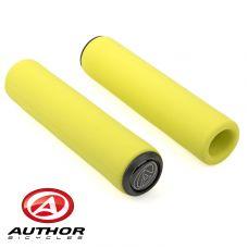 Грипсы Author SILICONE Elite l.130 mm, неоново жёлтые
