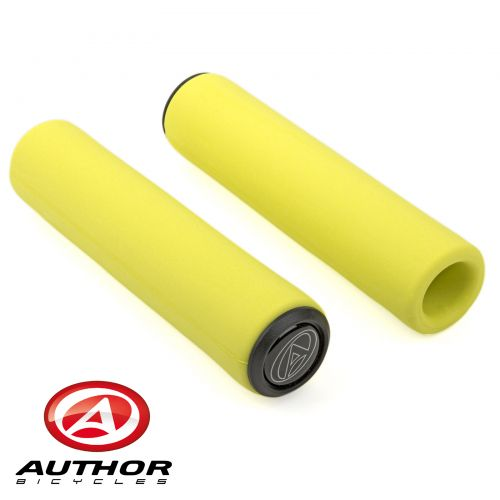 Грипсы Author SILICONE Elite l.130 mm, неоново жёлтые