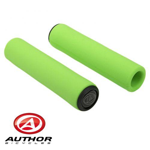Грипсы Author SILICONE Elite l.130 mm, неоново зелёные