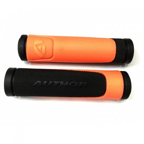 Грипсы AGR R600 D3  l.130mm (orange-neon/black)