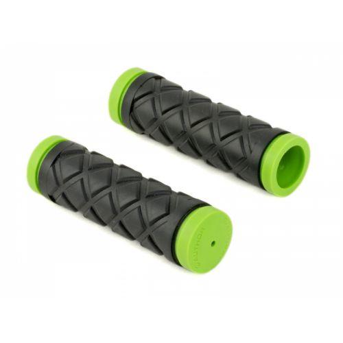 Грипсы Author AGR Junior R5 5 l.100 mm, неоново зелёные/черные