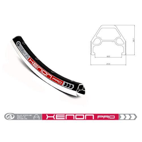 """Обод  ACO Argon Pro 559 (26"""") x18/36 CNC, двойной, под FV, черный"""