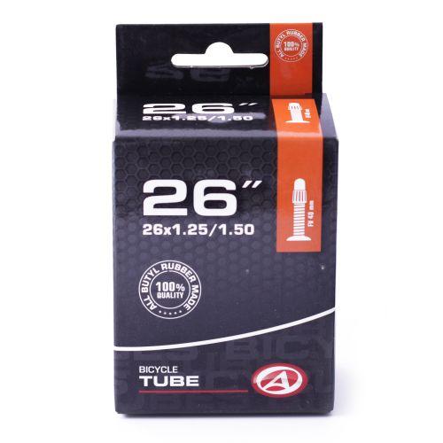 """Велокамера Author AT-MTB-26"""" slim FV40 26x1.25/1.50, в коробочке"""