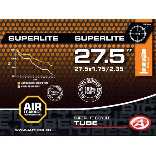 "Велокамера Author AT-MTB-27,5"" SuperLite FV40 27.5x1.75/2.35, в коробочке"