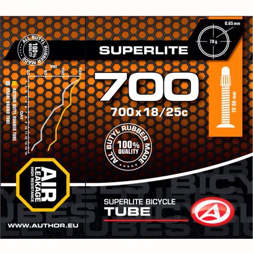 Велокамера   AT-ROAD-700C SuperLite FV60 700x18/25Cчерная