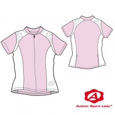 Футболка велосипедная женская ASL-E-5B Размер S, розовая/белая