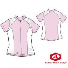 Футболка велосипедная женская ASL-E-5B Размер M, розовая/белая