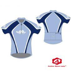 Футболка велосипедная женская ASL-R-5A Размер L, голубая/светло голубая