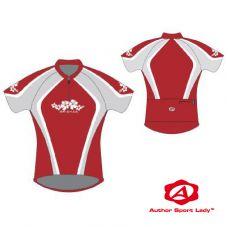 Футболка велосипедная женская ASL-R-5B Размер L, красно/серая