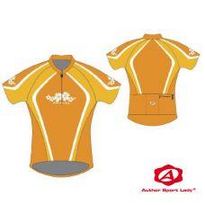 Футболка велосипедная женская ASL-R-5D Размер S, желтый/темно желтый