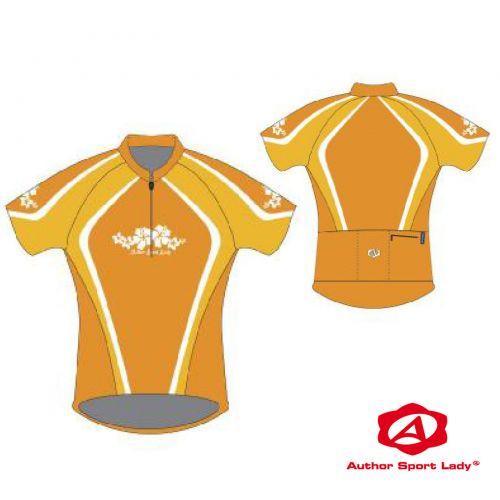 Футболка велосипедная женская ASL-R-5D Размер XL, желтый/темно желтый